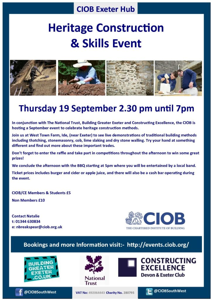 Heritage Construction and Skills Event – 19 Sep 2019