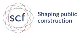 Shaping public construction logo